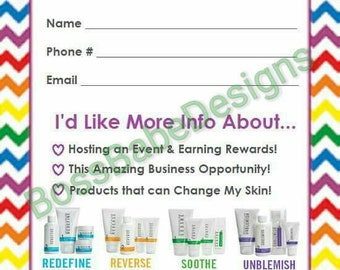 Rodan+Fields Customer Contact and Information Cards