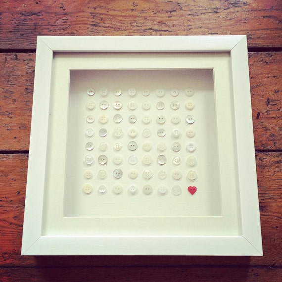Button Grid Frame  Perfect Valentine's Day Gift