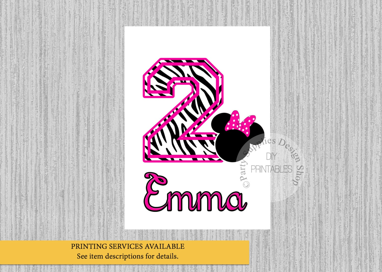 Design your own t-shirt hot pink - Minnie Mouse Birthday Iron On Zebra Print Hot Pink Minnie Birthday Tshirt Printable Minnie Personalized Iron On Diy Printables Digital