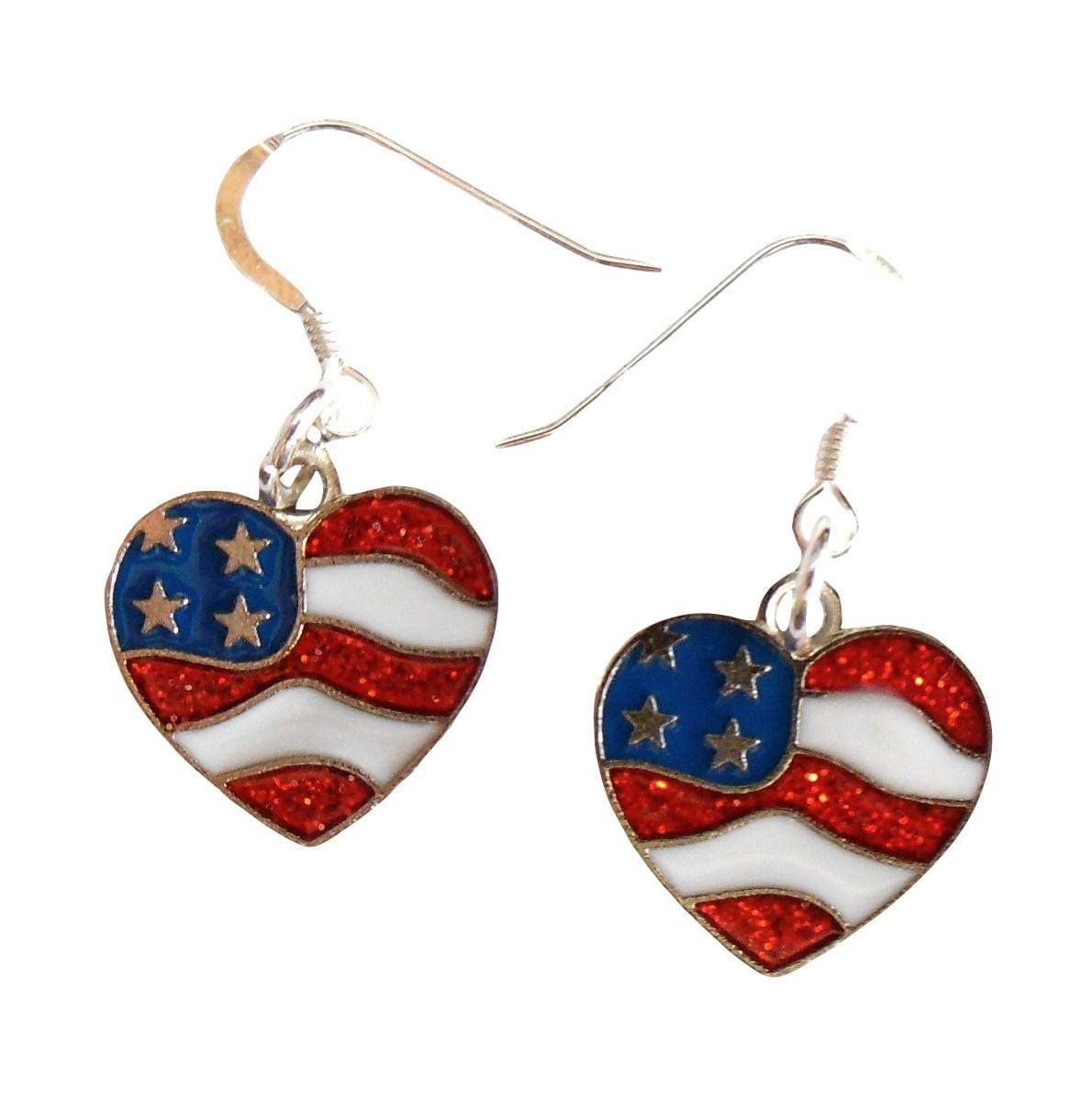 patriotic earrings 4th of july earrings patriotic jewelry