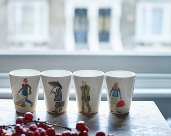 London Character Beakers