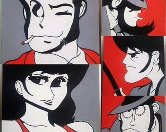 Lupin-5 hand drawn comics