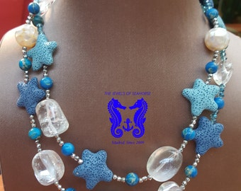 Long necklace starfish