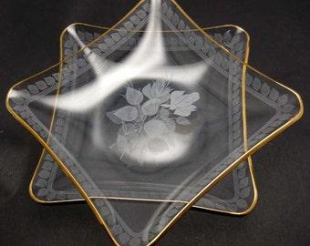 Bent Glass Serving Dishes Vintage