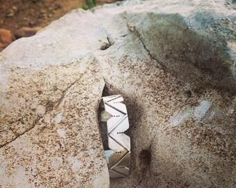 Sawed Argentium Silver Cuff