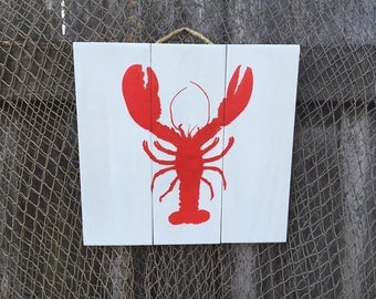 Nautical Lobster sign