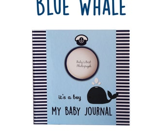 My Baby Journal Blue Whale