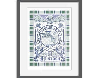 McIntosh Clan Crest Illustration Print
