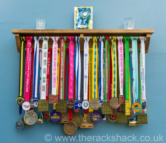 Medal Hanger Running Medal Holder Wooden Shelf For Trophy