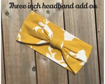 Three inch headband **ADD ON ONLY**