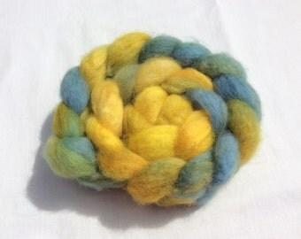 Hand dyed Shetland wool tops