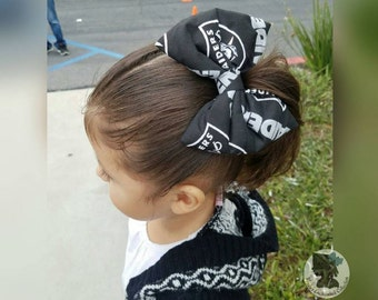 Raiders Hair Bow, Raiders Bow, NFL, Football, Raider Nation, Raiders