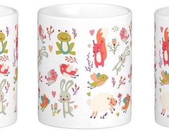 Cute Spring Animals Mug