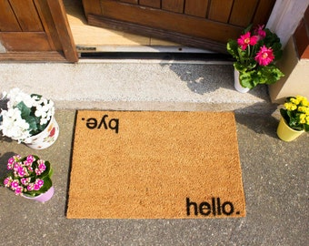 Hello, Bye Novelty Welcome Doormat