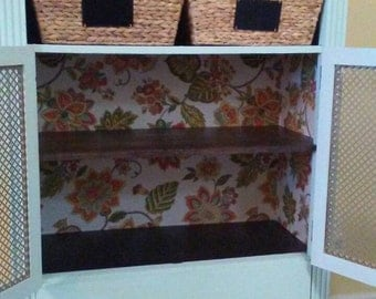 Repurposed dresser is now a stylish hutch