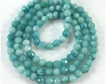 3mm Jade Beads,Faceted Jade Beads,Semi Precious Gemstone Beads