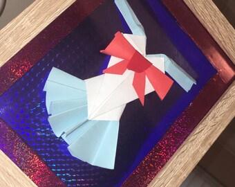 Salior moon papercraft dress in 8x6 beech frame