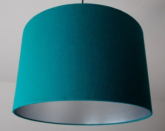 "Lampshade ""Green-turquoise-Silver"""