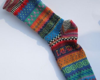 Colorful fair Isle socks Aadan Gr. 44 / 45