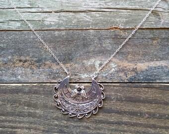 Silver Bird Necklace, Bird Necklace, Silver Pendant, FREE SHIPPING