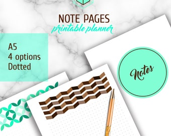A5 Dotted Note Pages, Original Design