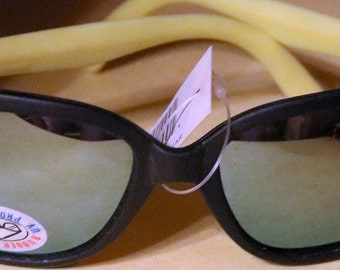 Vintage Rubber Framed Sunglasses, Classic 80's style