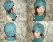 100% cotton scarf and hat made in italy, gifts, birthday gift ideas