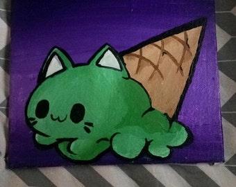 Single Scoop Pistachio Kitty Cone