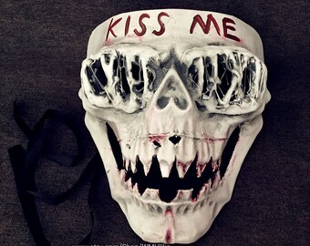 The Purge 3 Election Year Mask Halloween Costume Cosplay Anarchy Purge Movie Kiss Me Mask