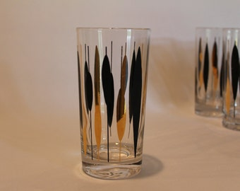Mid Century Modern Glass Tumblers (set of 5)