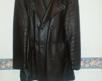 Leather jacket Brown size XL
