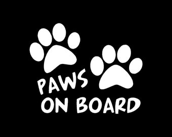 Animal Paws on Board Decal