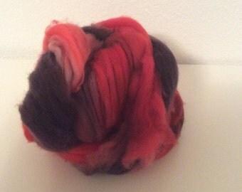 Smoke & Fire- Merino Wool Roving