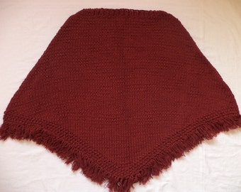Poncho wool Gr. 42/44 knitted wool Womens poncho