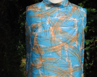 Nylon turquoise blouse