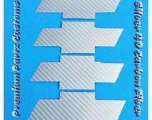 Chevy Bowtie Decals Custom Handmade 4PC Set Carbon Fiber Silver 3M Adhesive High Quality Universal Decals Windows Doors Pillars