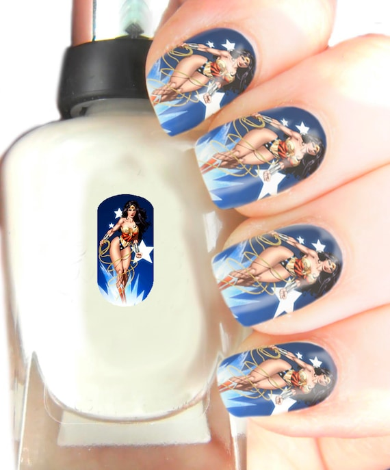 Nails Wonder Woman Can Nail Art Be Feminist: Wonder Woman Nail Art Wraps Nail Art Decals By SimplyGiftIdeas