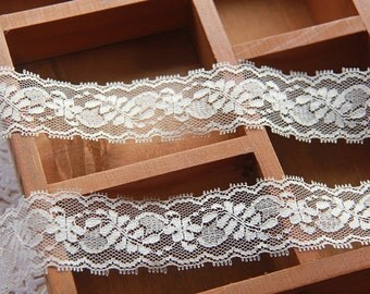 "30 yard 3cm 1.18"" wide ivory gauze tulle mesh lace trim ribbon 43o3km free ship"