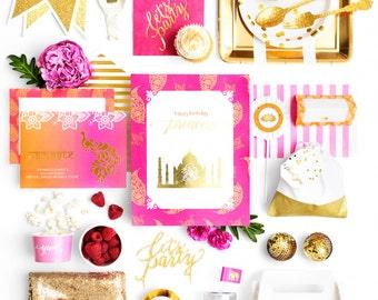 Bollywood Party, Bollywood Party Ideas, Bollywood Party Supplies, Bollywood Party Invitations, Indian Princess