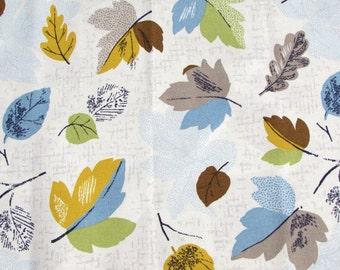 Shabby Chic CATH KIDSTON FABRIC Fat Quarter - Woodland Leaves Blue - 50cms x 46cms