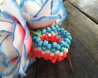Patriotic Flower Cuff