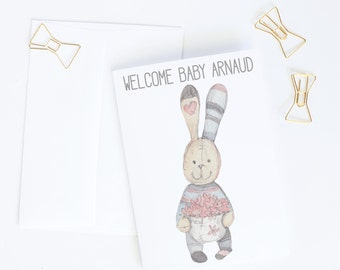 Personalised welcome baby card | Baby congratulations card | New baby congrats card | Newborn congrats card | Congratulations baby cards A1