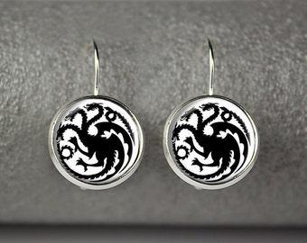 Game of Thrones Targaryens earrings, House of Targaryens earings, Dragon earrings