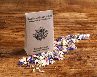 Natural Confetti Individual Packet Wedding