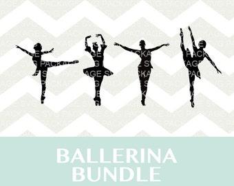 Ballerina SVG Bundle, Ballet SVG, Ballet Dancer svg, Clipart Ballerina Ballet, Ballerina Silhouette, cut files for Silhouette and cricut