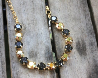 Black and gold crystal bracelet. Show your Pittsburgh pride!