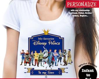 Disney Prince Tee, My Favorite Disney Prince Shirt