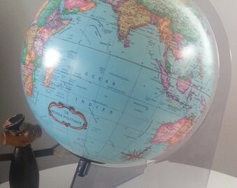 Earth globe made in Denmark