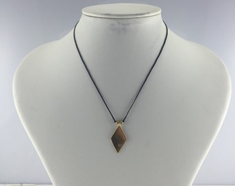 Single Cut Diamond Gold-plated Silver Necklace
