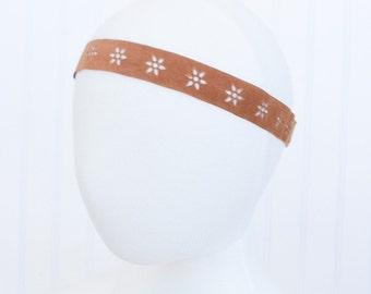 Brown Bohemian flower Headband